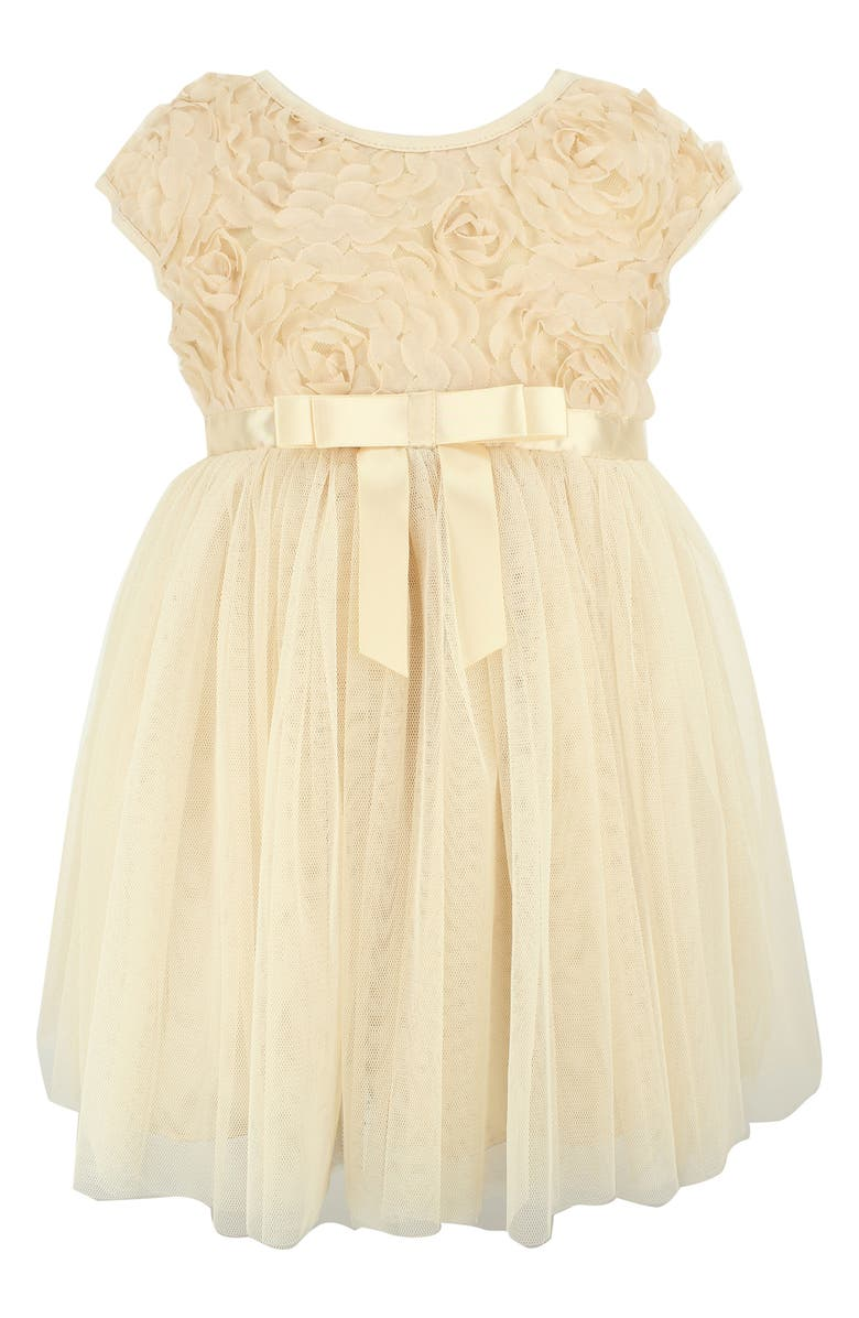 POPATU Rosette Tulle Dress, Main, color, IVORY