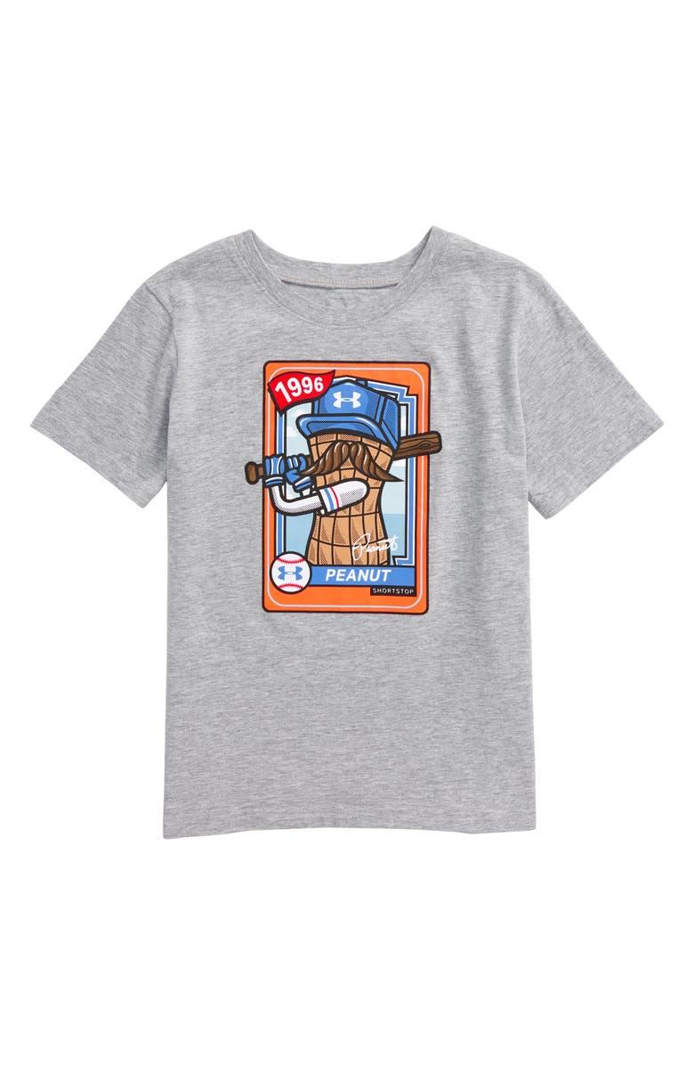 UNDER ARMOUR HeatGear<sup>®</sup> Peanut Baseball Graphic Tee, Main, color, MOD GRAY