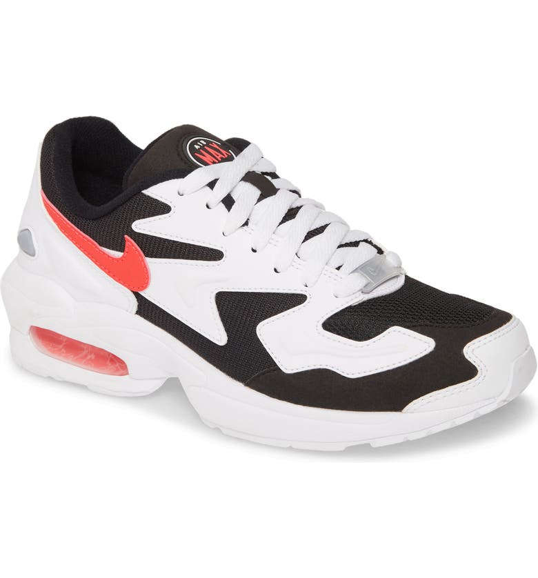 NIKE Air Max2 Light Sneaker, Main, color, WHITE/ RED/ BLACK/ GRAY