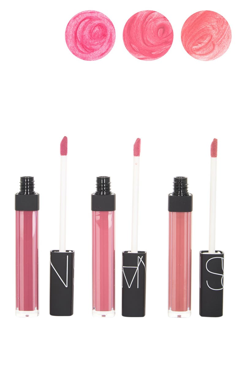 3-Set Nars Shimmer Lip Gloss