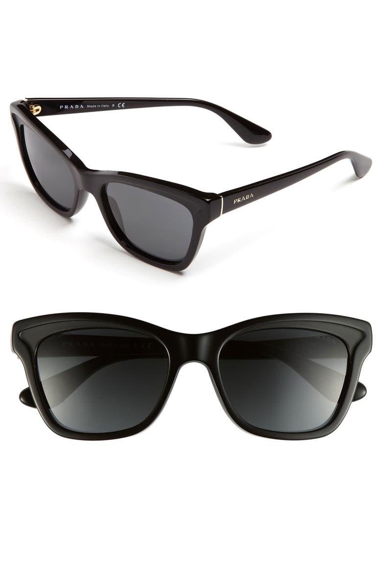 PRADA 54mm Sunglasses, Main, color, 001