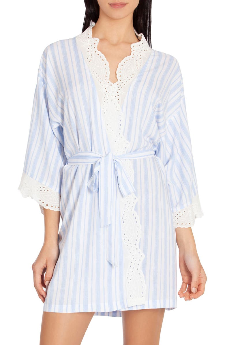 IN BLOOM BY JONQUIL Stripe Wrap, Main, color, BLUE