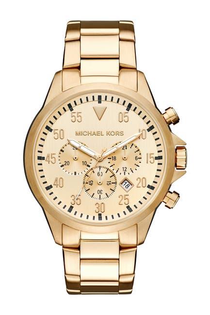Image of MICHAEL Michael Kors Men's Gage Bracelet Watch, 45mm