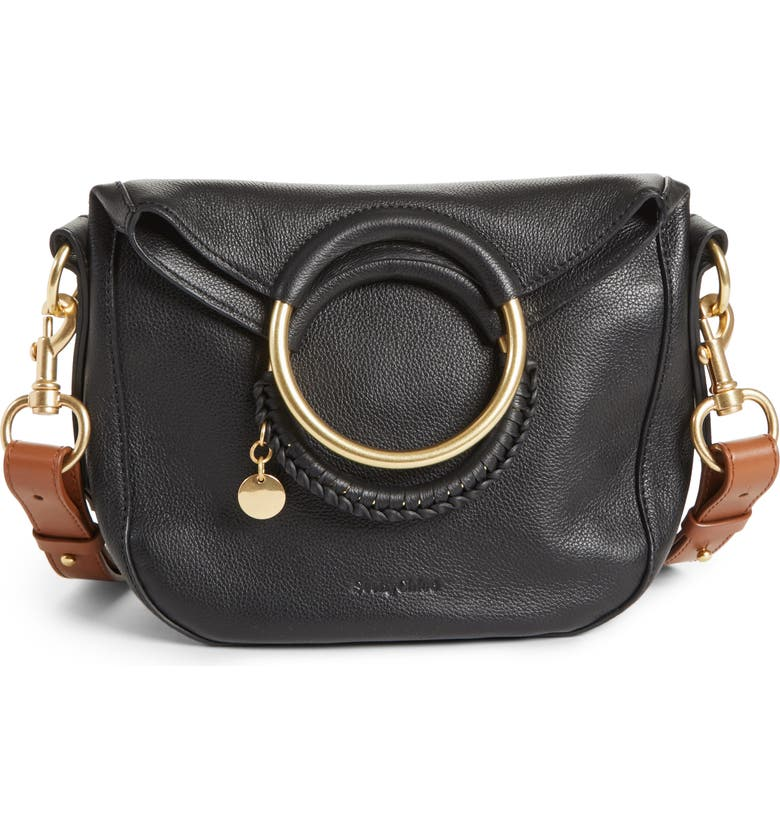 SEE BY CHLOÉ Small Monroe Leather Hobo, Main, color, 001