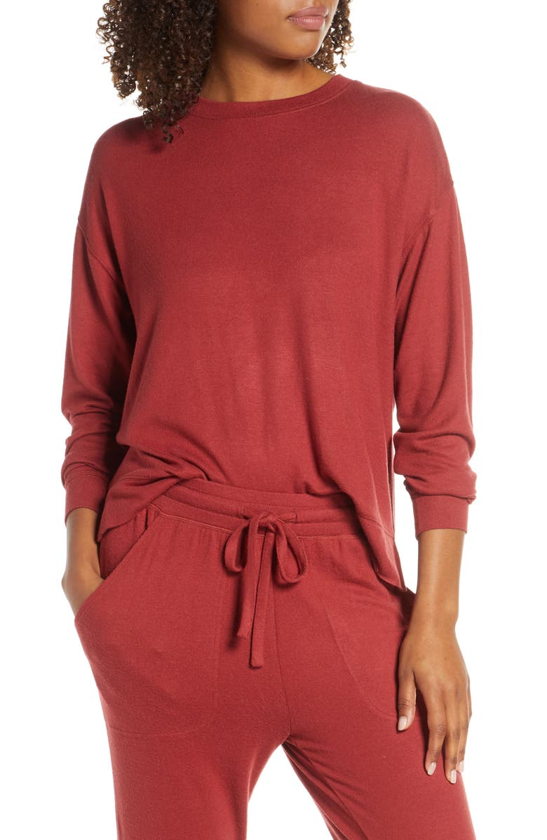 BP. Cozy Top, Main, color, RED ROSEWOOD