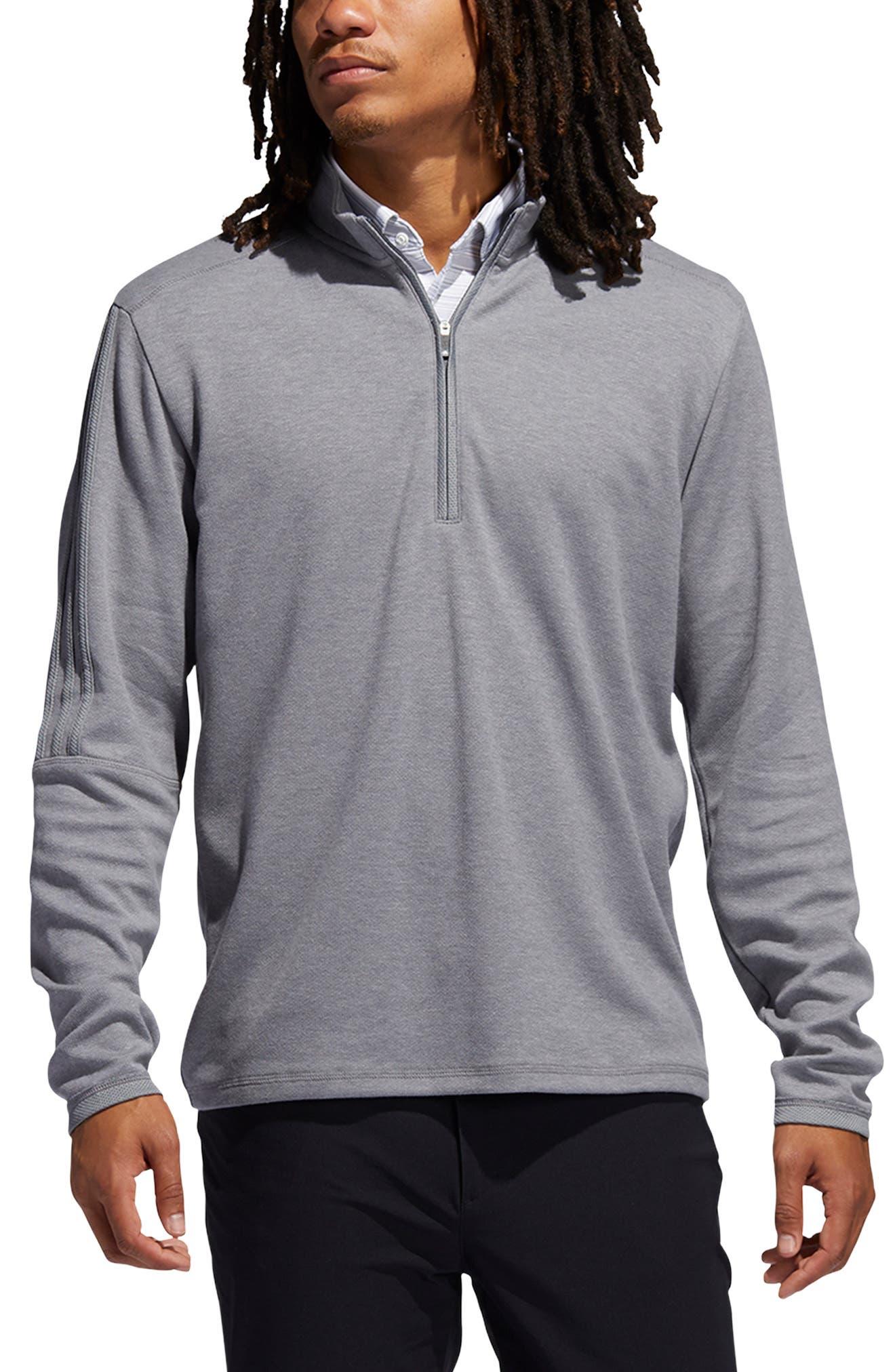 Men's Adidas Golf Men's 3-Stripes Quarter Zip Performance Pullover
