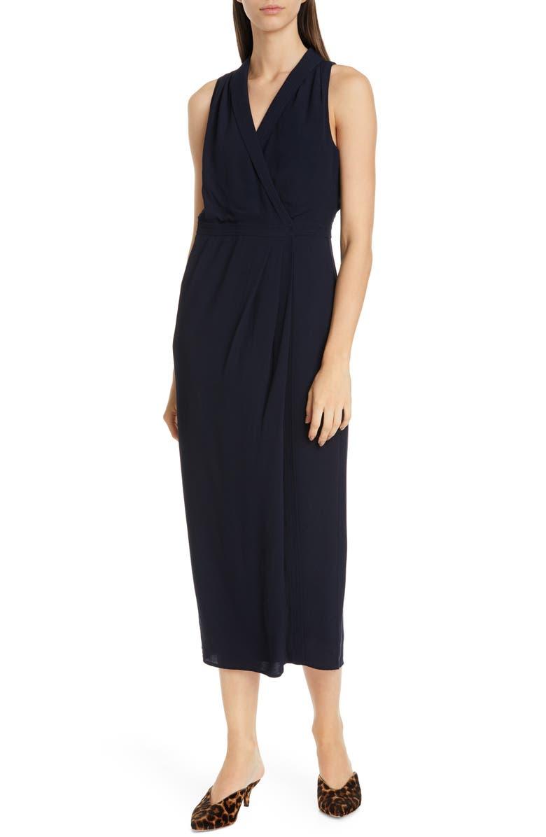 EQUIPMENT Katherine Wrap Midi Dress, Main, color, ECLIPSE