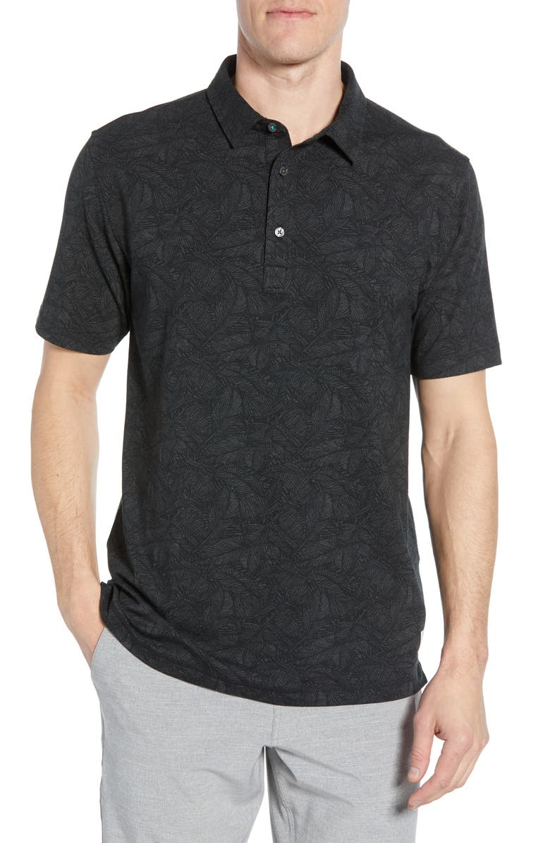 LINKSOUL Dry-Tech Stretch Golf Polo, Main, color, BLACK HEATHER