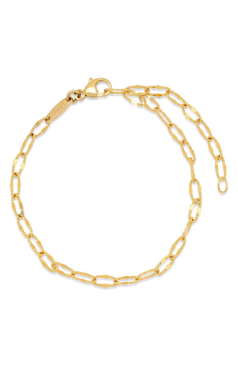 CONGÉS Diamond-Cut Link Bracelet, Main, color, YELLOW GOLD