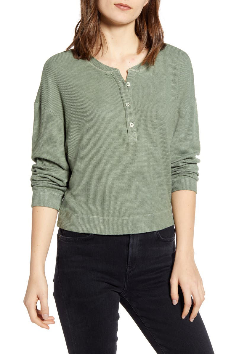 STATESIDE Thermal Henley Top, Main, color, 317