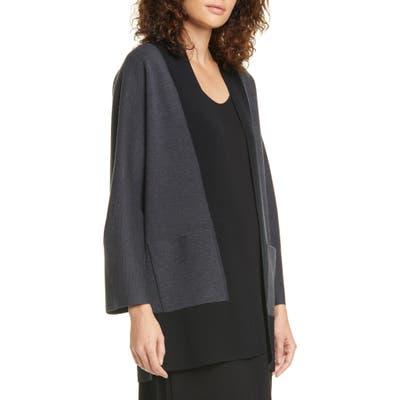 Eileen Fisher Merino Wool Cardigan, Grey