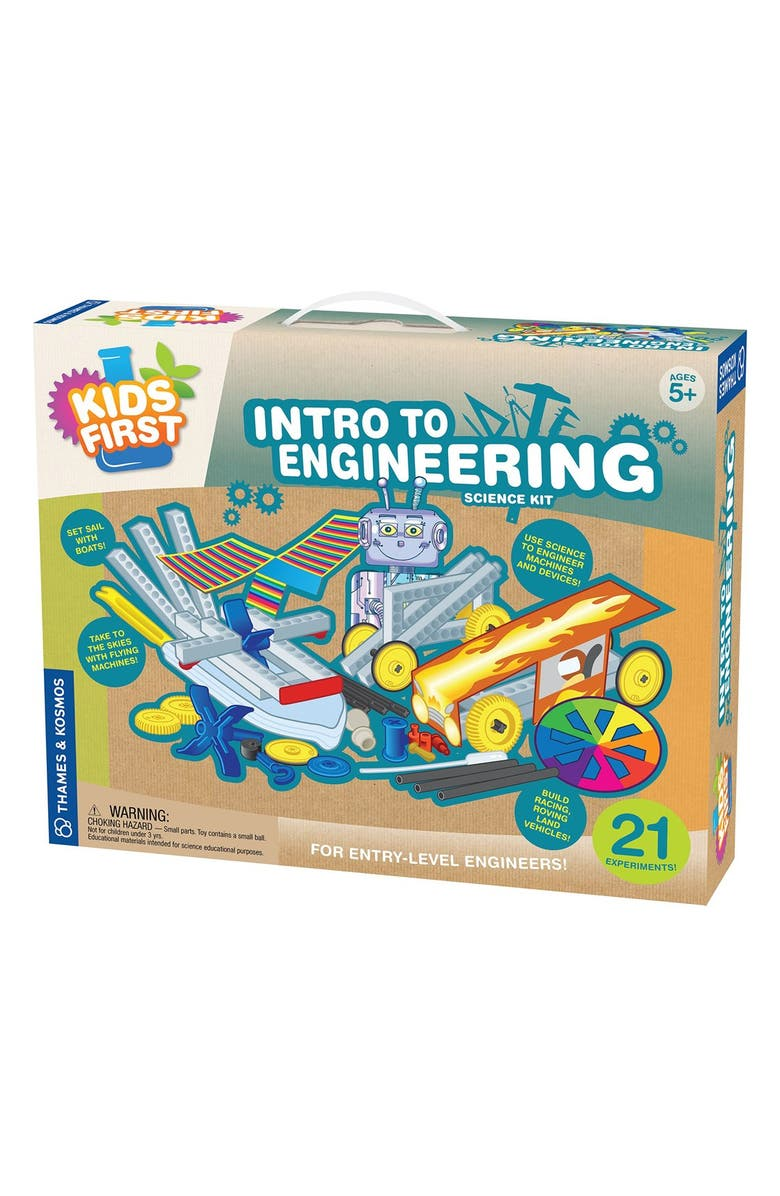 THAMES & KOSMOS 'Intro To Engineering' Science Kit, Main, color, BLUE