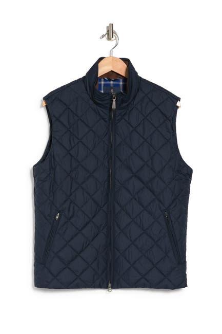 Image of Brooks Brothers Diamond Quilt Zip Vest