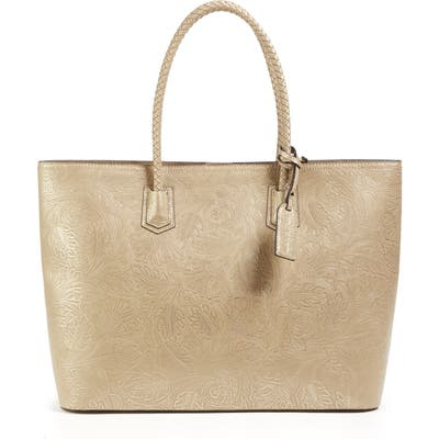 Sole Society Hawna Faux Leather Tote - Beige