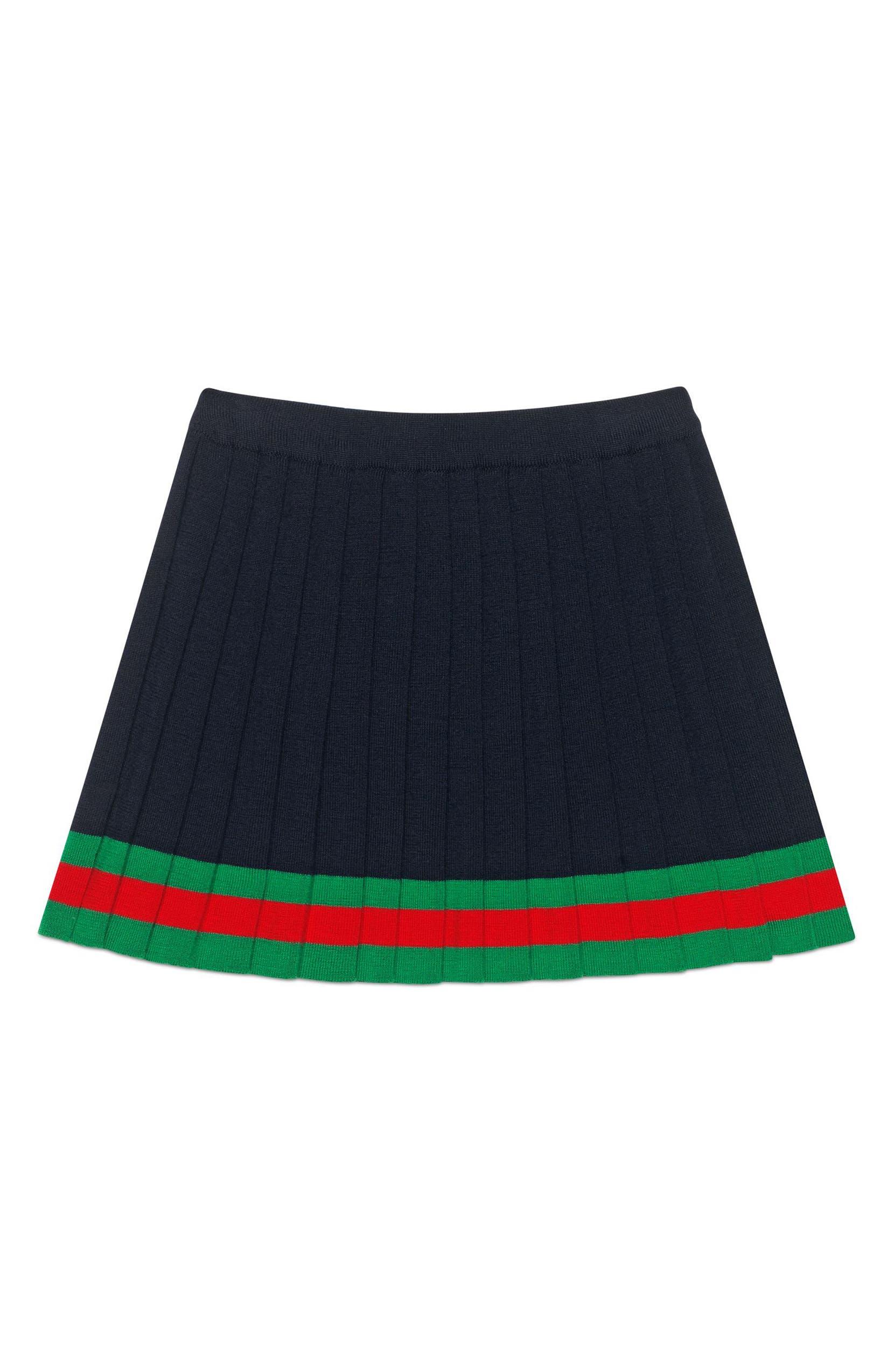 6dbeab9930f06 Gucci Pleated Wool Knit Skirt (Little Girls & Big Girls) | Nordstrom