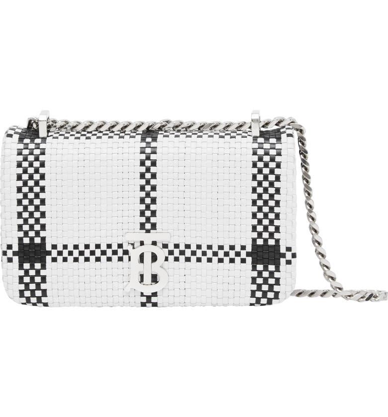 BURBERRY Mini Lola Shoulder Bag, Main, color, WHITE/ BLACK