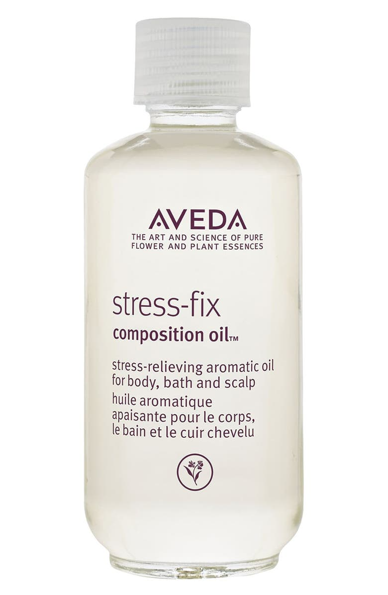 AVEDA stress-fix composition oil<sup>™</sup> Stress-Relieving Aromatic Oil for Body, Bath & Scalp, Main, color, NO COLOR