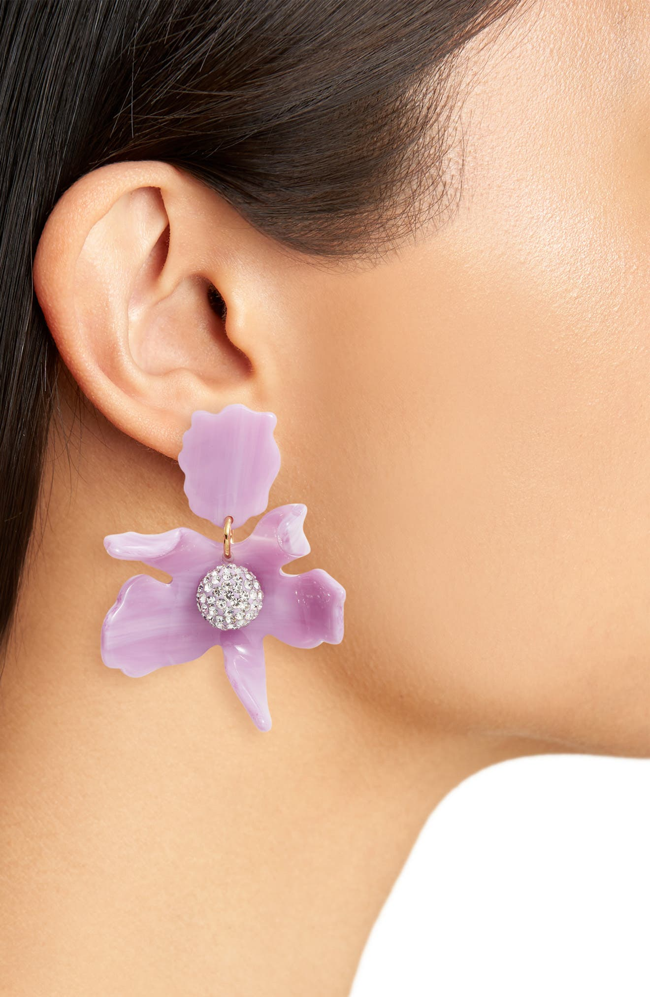 ,                             Small Crystal Lily earrings,                             Alternate thumbnail 2, color,                             530