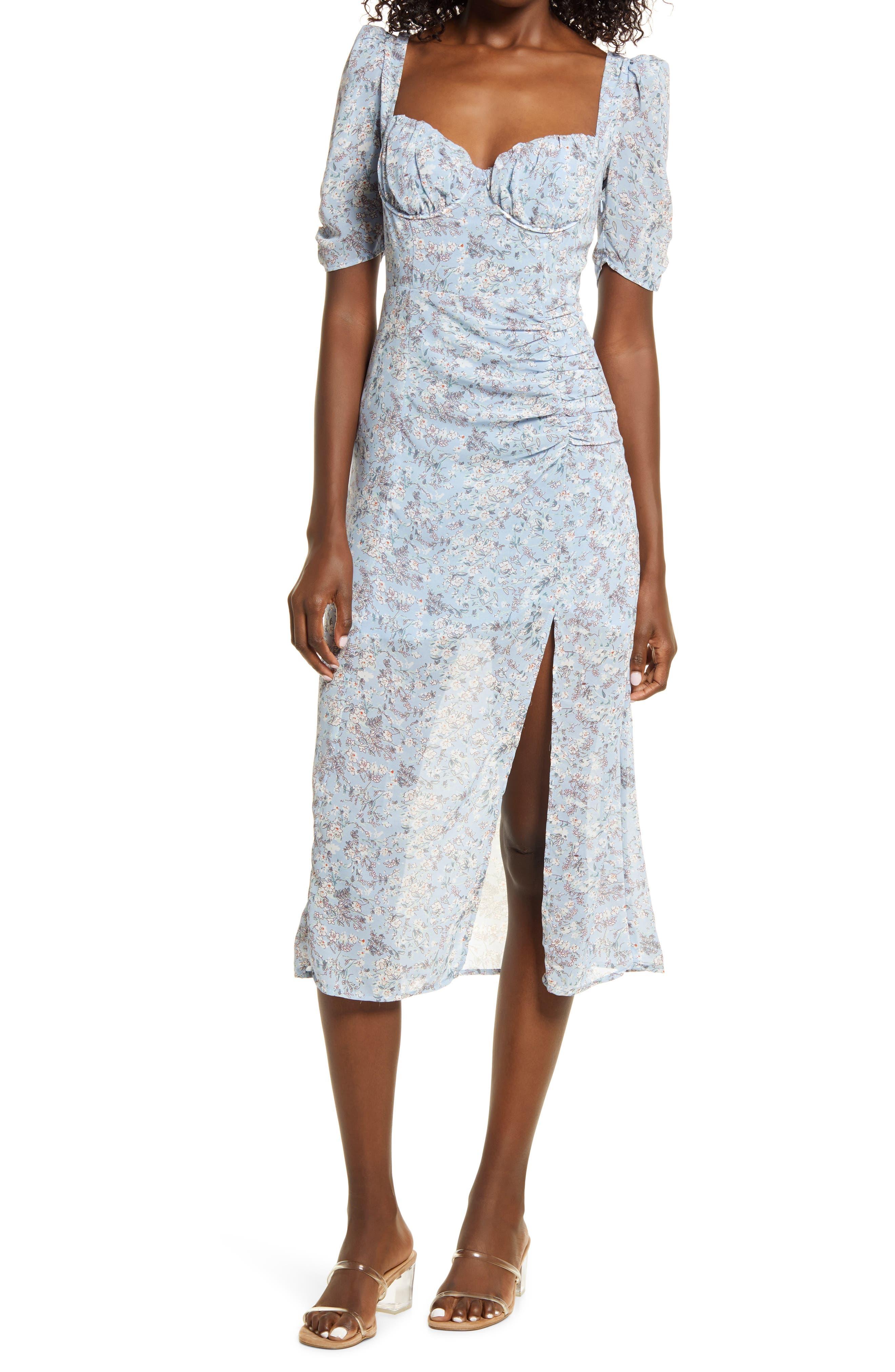 Floral Milkmaid Midi Dress