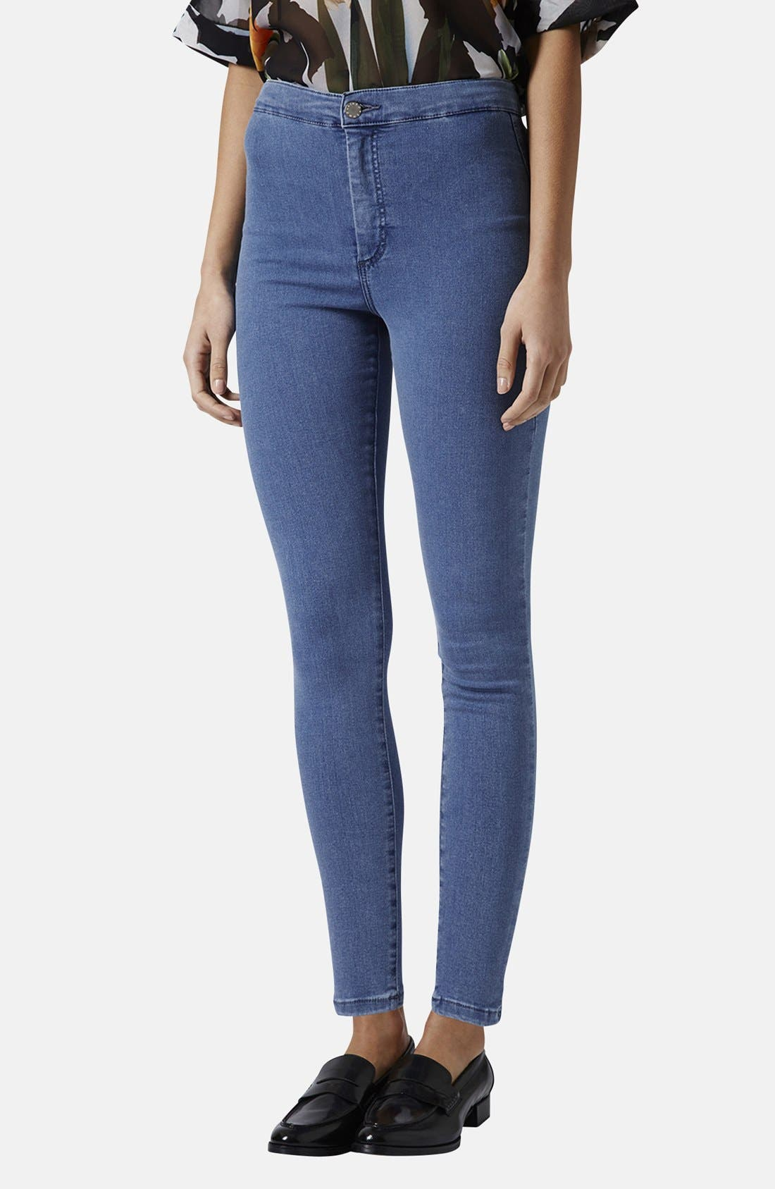 Moto 'Joni' High Rise Skinny Jeans, Main, color, 400