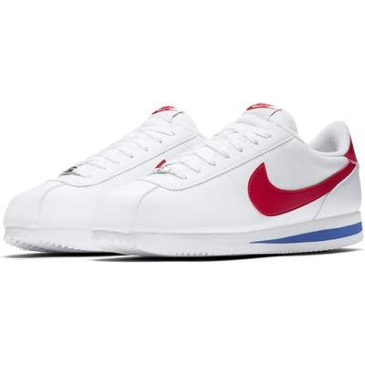 Nike Cortez Basic Leather Sneaker, White