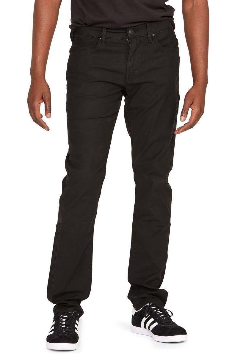 HUDSON JEANS Blake Slim Straight Leg Jeans, Main, color, BLACK