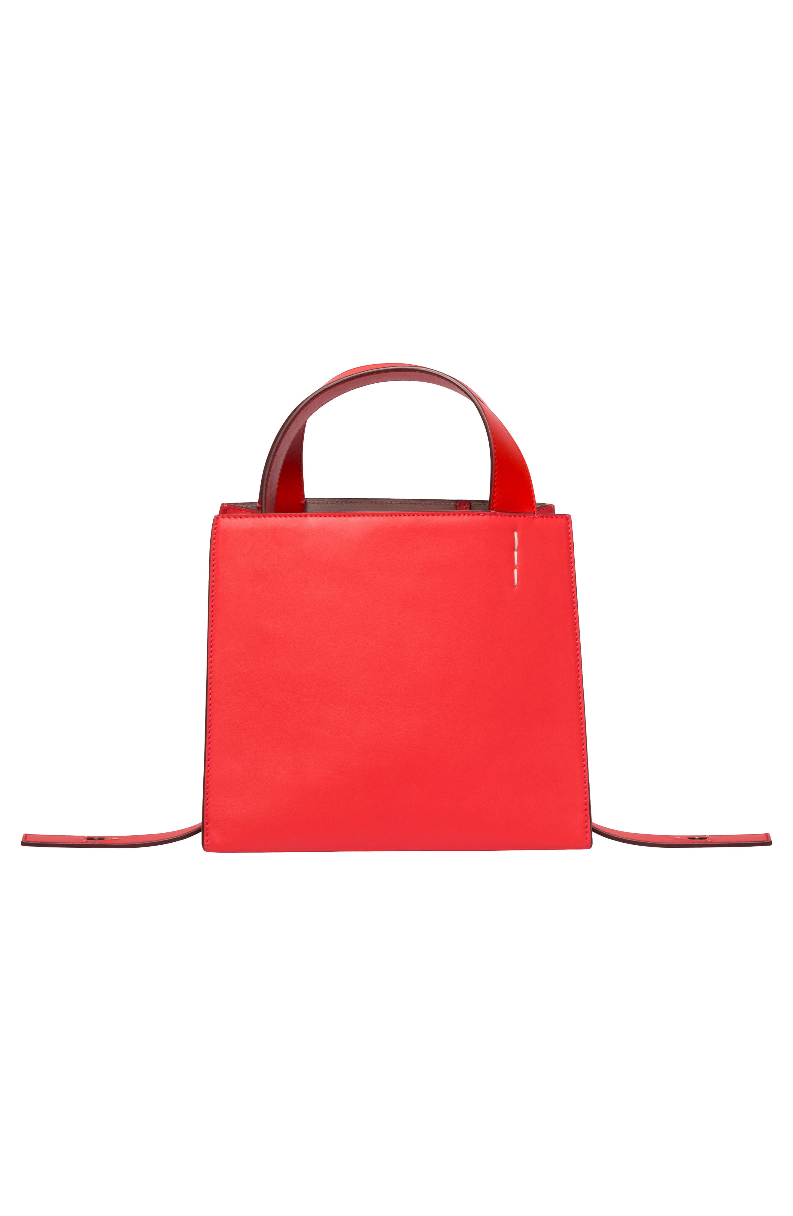 ,                             Margot Leather & Genuine Shearling Tote Bag,                             Alternate thumbnail 4, color,                             CORAL