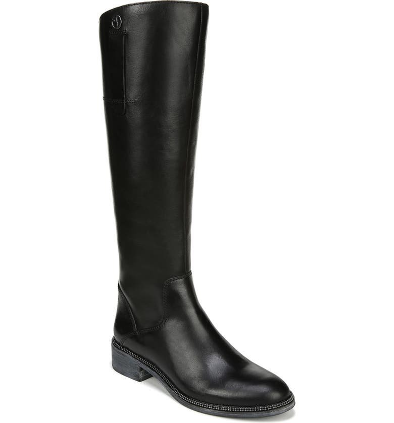 FRANCO SARTO Becky Knee High Boot, Main, color, BLACK LEATHER