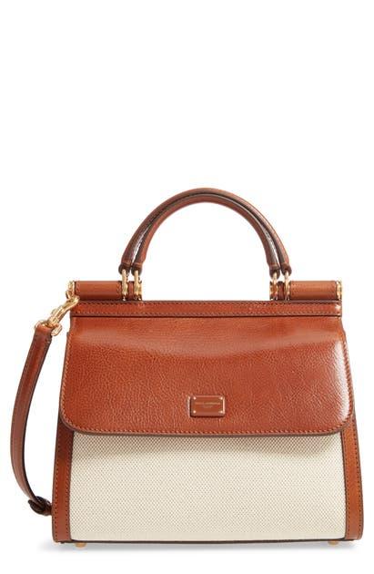 Dolce & Gabbana Shoulder bags SICILY 58 CANVAS & LEATHER SATCHEL