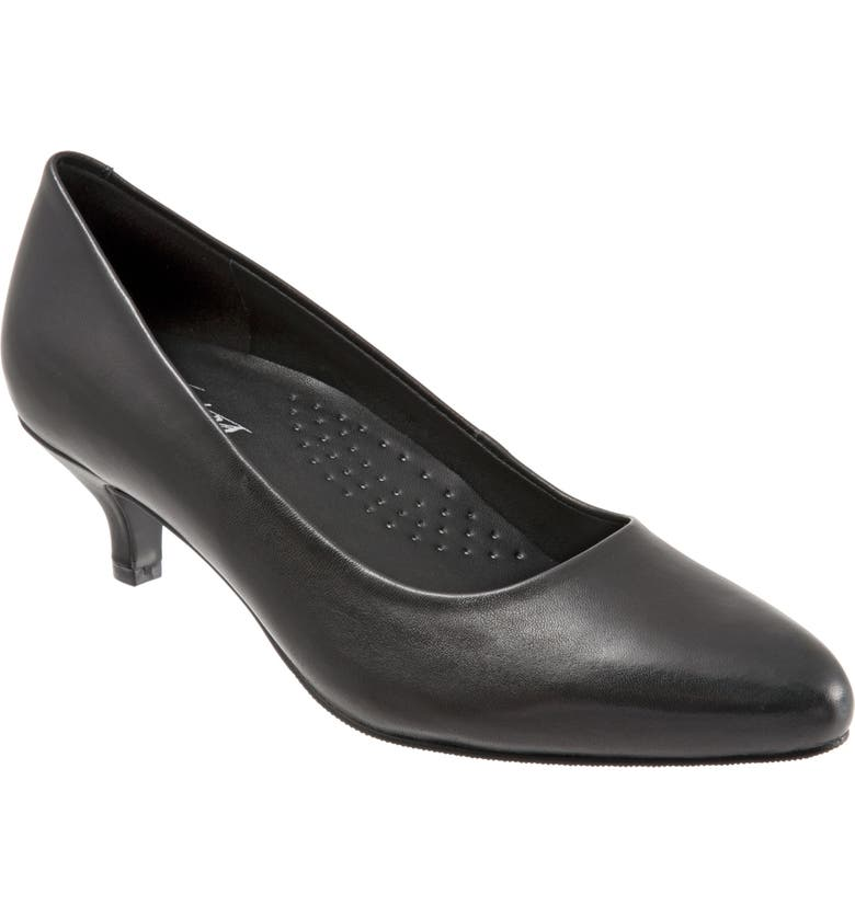 TROTTERS Kiera Pump, Main, color, BLACK LEATHER