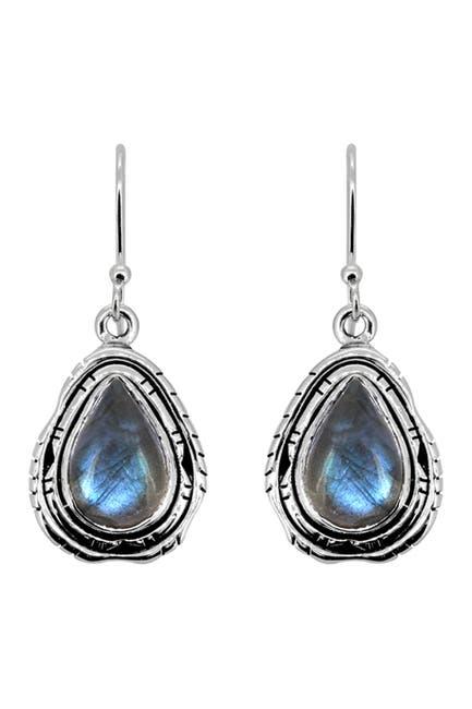 Image of Nitya Sterling Silver Labradorite Earrings