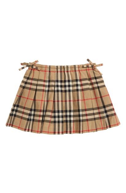 Burberry Girls' Mini Pearly Vintage Check Pleated Skirt - Baby In Beige