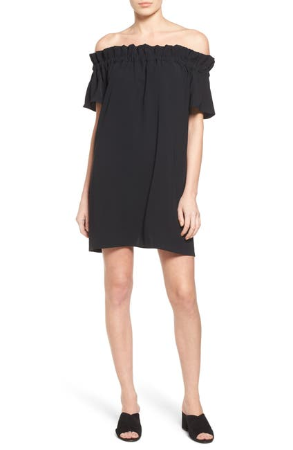 Image of Pleione Off-the-Shoulder Shift Dress