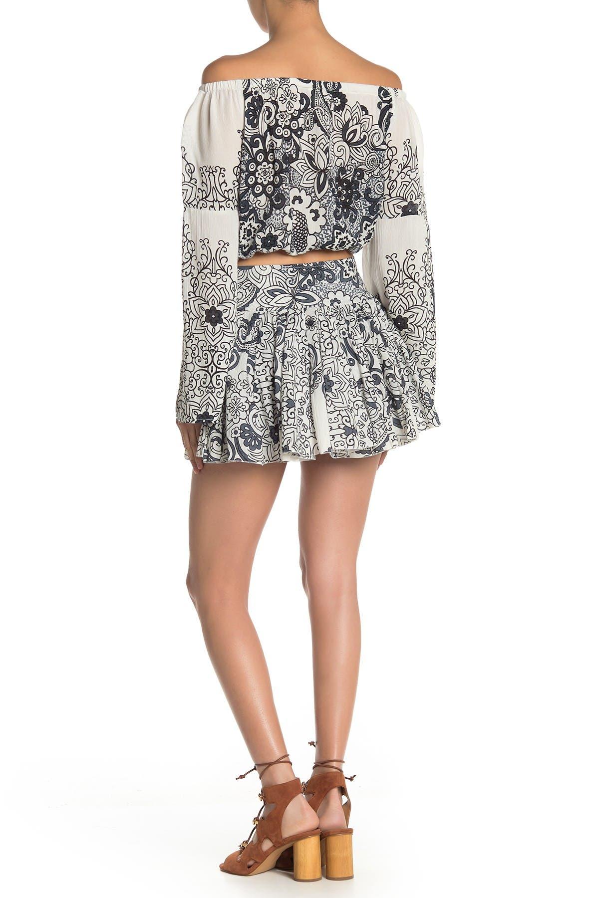 Image of RAGA Smoking Rose Ruffle Skirt