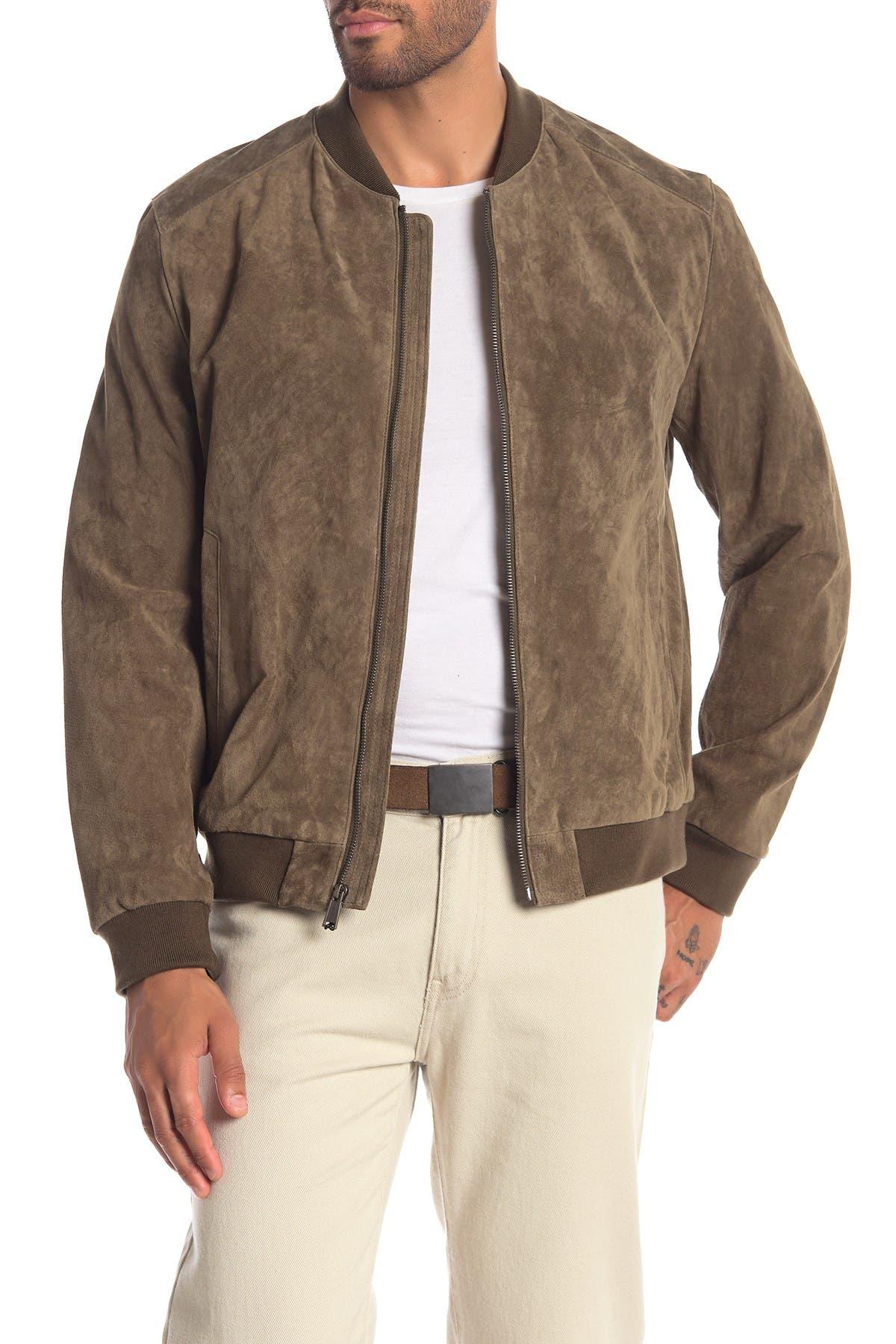 Image of Cole Haan Suede Varsity Jacket