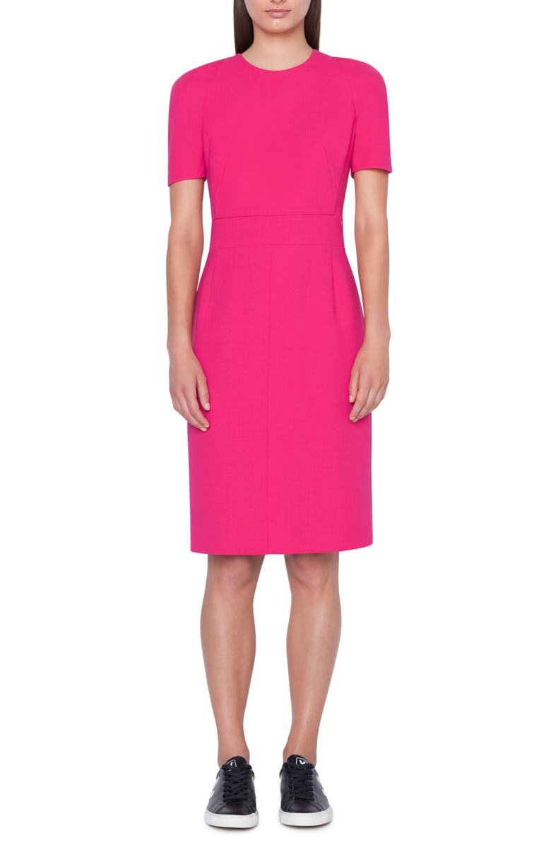 AKRIS Zip Waist Double Face Wool Blend Dress, Main, color, 667