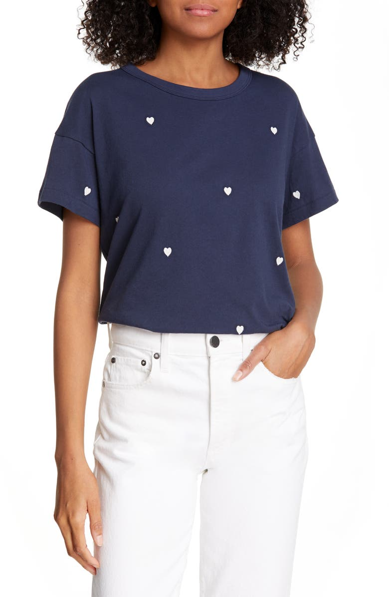 THE GREAT. The Boxy Crew Tee, Main, color, 411