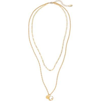 Cam Luna Astrology Pendant Layered Necklace