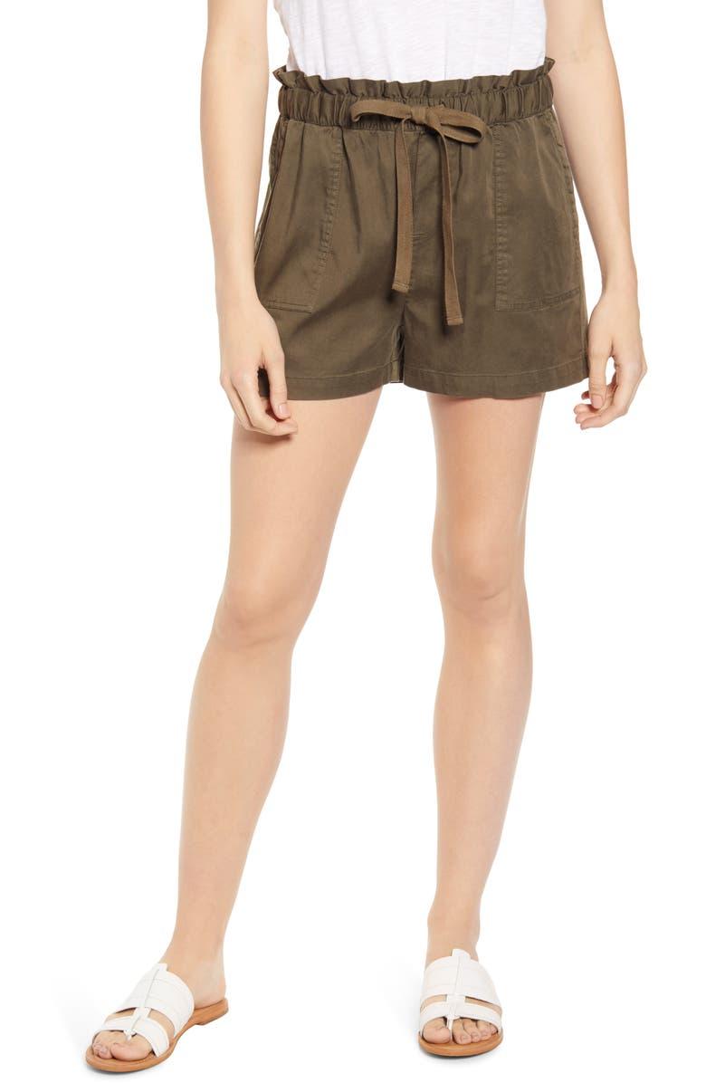 CASLON<SUP>®</SUP> Sand Washed Drawstring Shorts, Main, color, 301