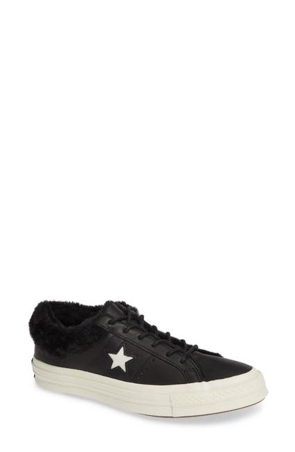 Image of Converse One Star Street Warmer Faux Fur Lined Low Top Sneaker