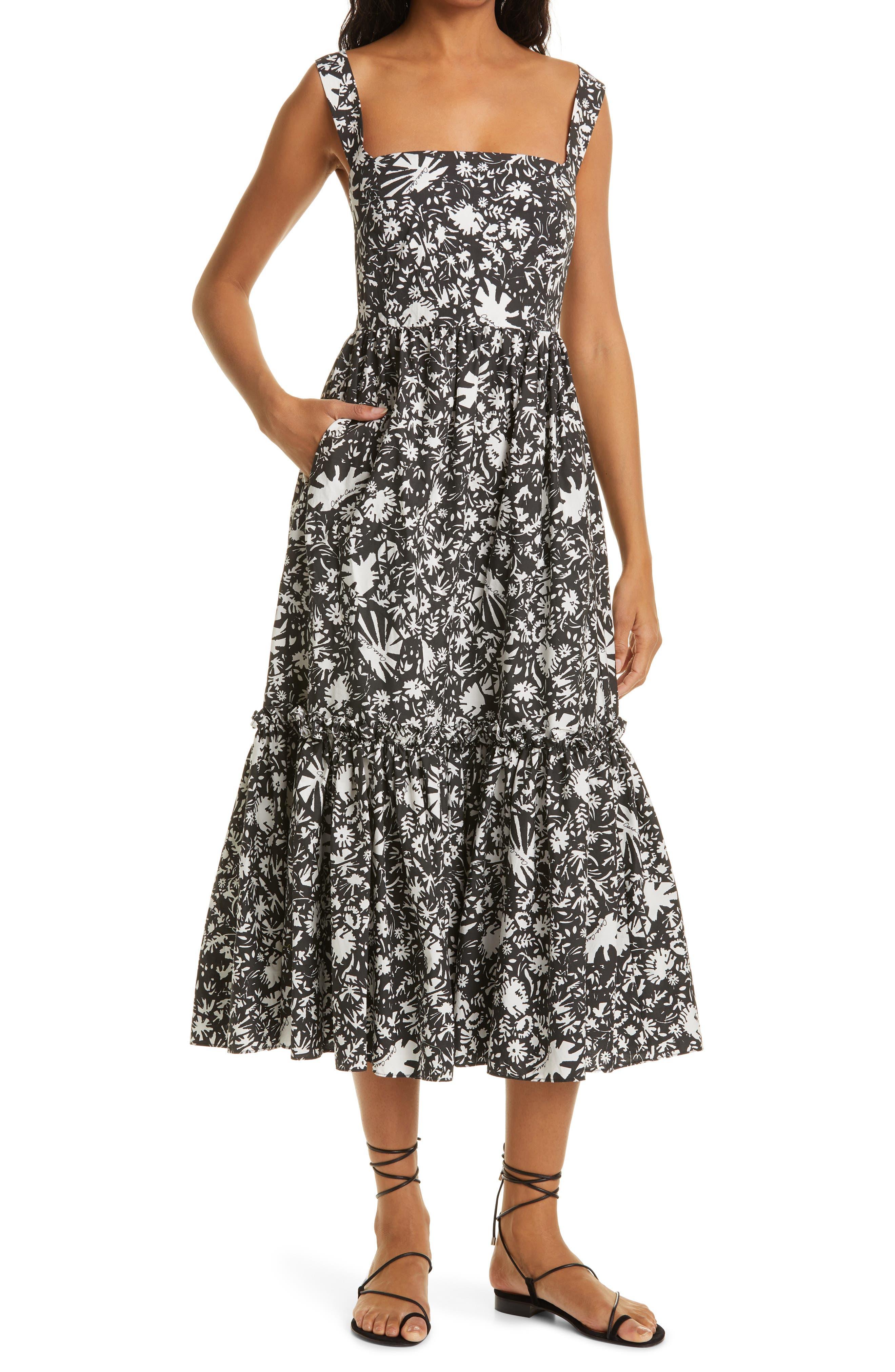 Julia Sleeveless Cotton Midi Sundress