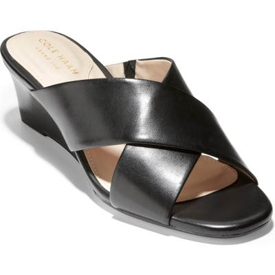 Cole Haan Adley Wedge Sandal, Black