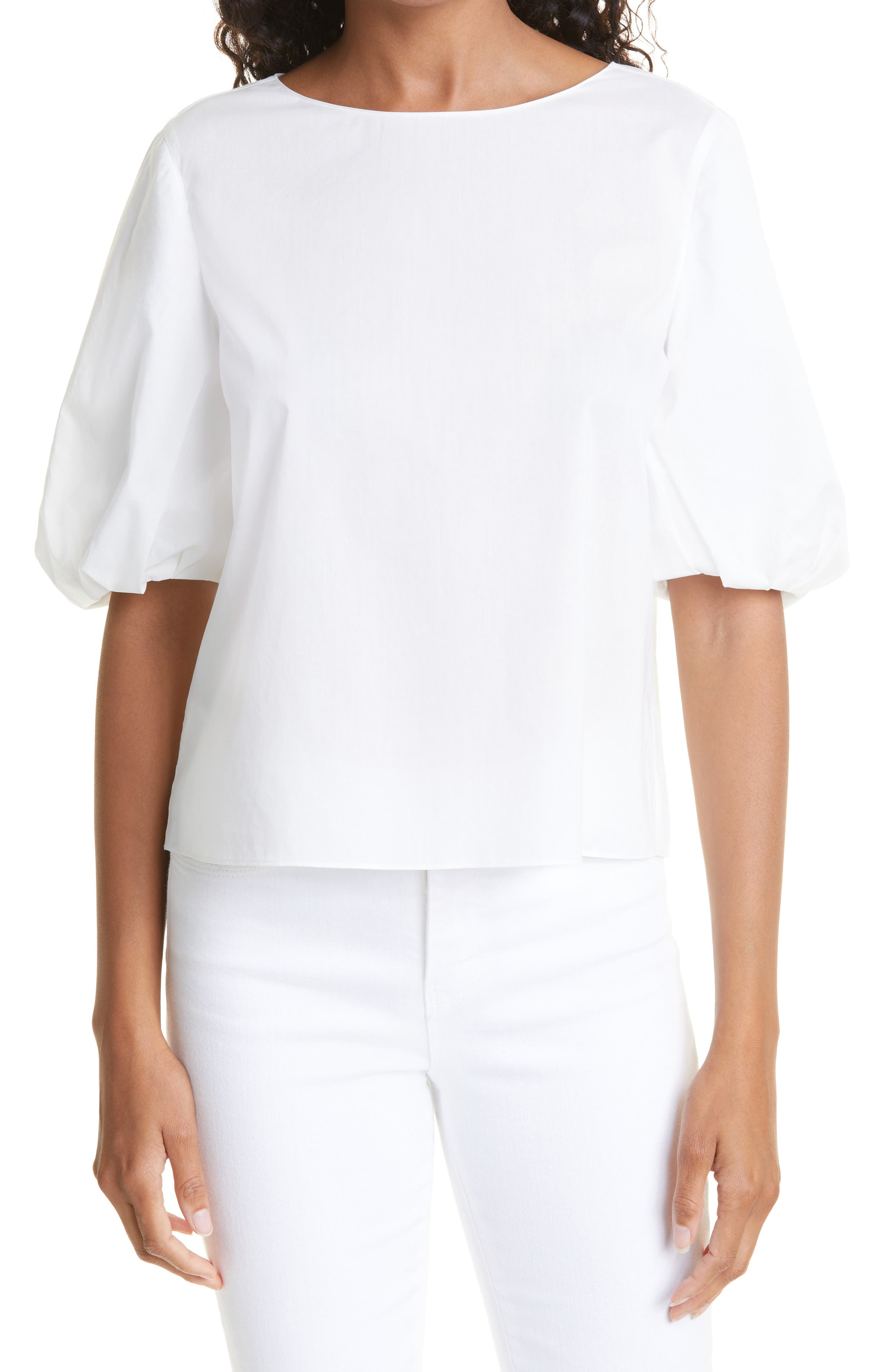 Leah Puff Sleeve Cotton Blouse