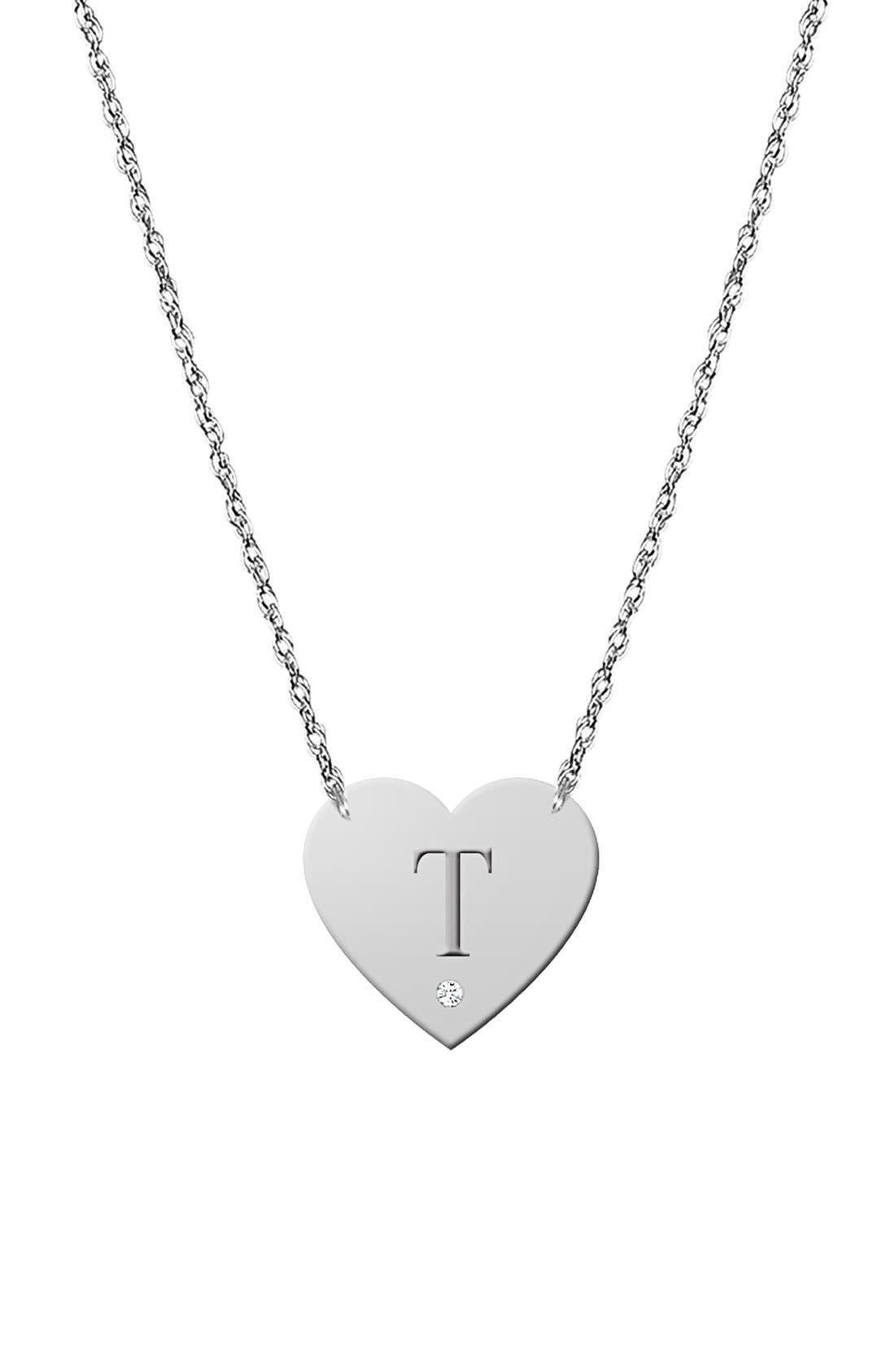 Diamond & Initial Pendant Necklace (Nordstrom Online Exclusive)