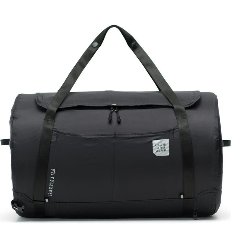 HERSCHEL SUPPLY CO. Ultralight Duffle Backpack, Main, color, BLACK