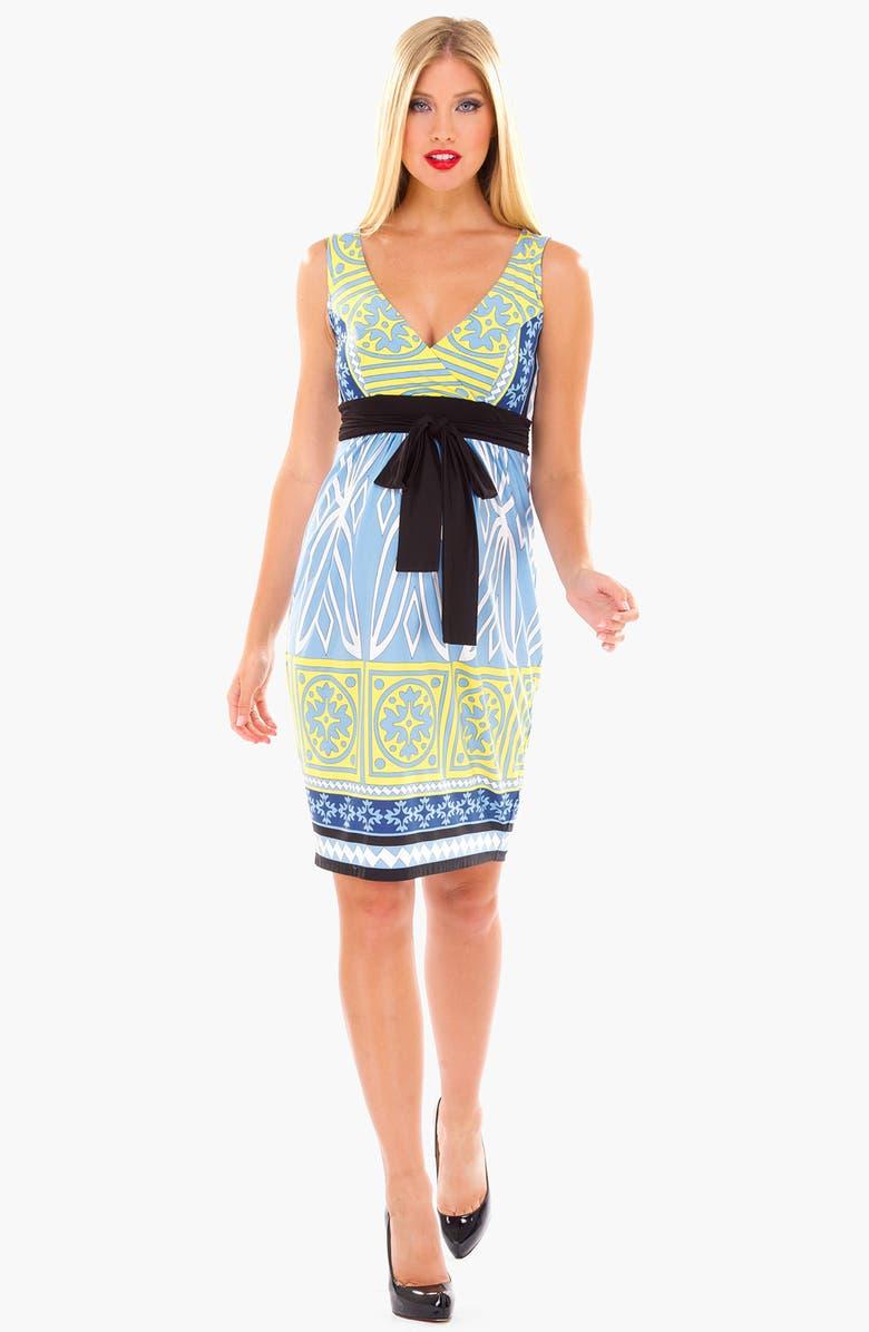 OLIAN Print Maxi Maternity Dress, Main, color, 464