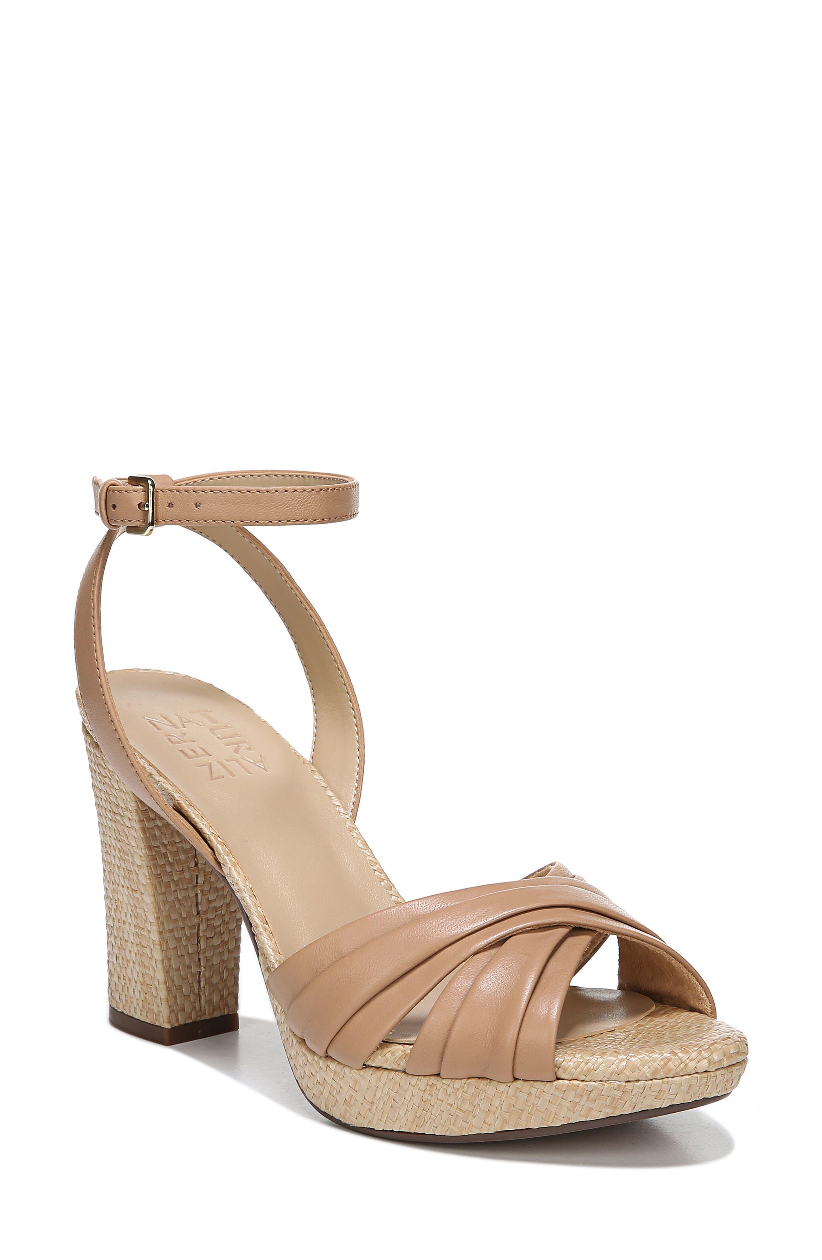 Naturalizer Avril Ankle Strap Sandal- Brown