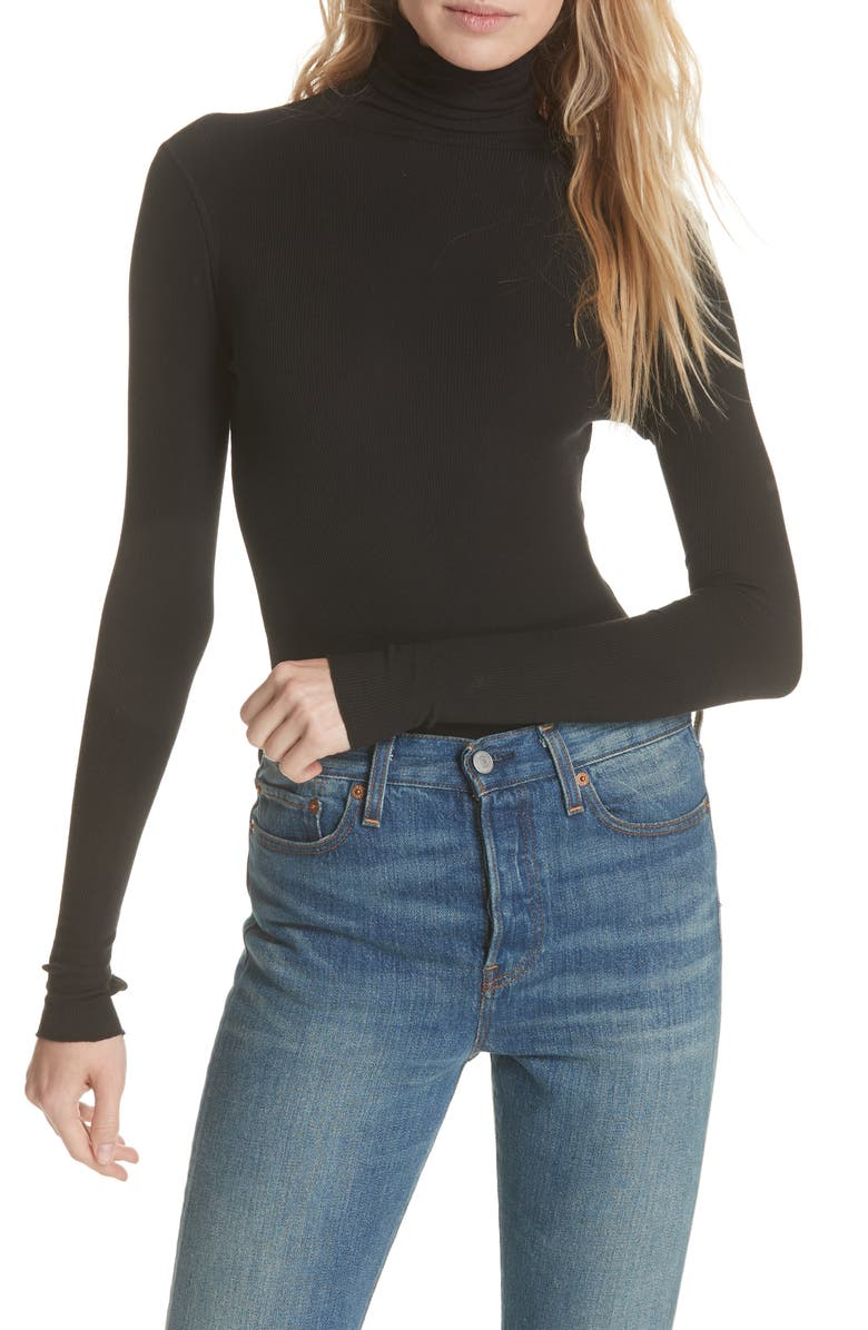 FREE PEOPLE That Classic Girl Bodysuit, Main, color, 001