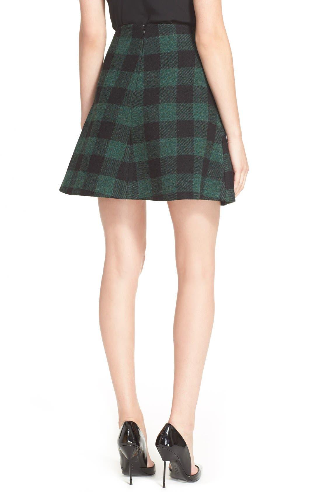 ,                             Buffalo Plaid Skirt,                             Alternate thumbnail 3, color,                             300