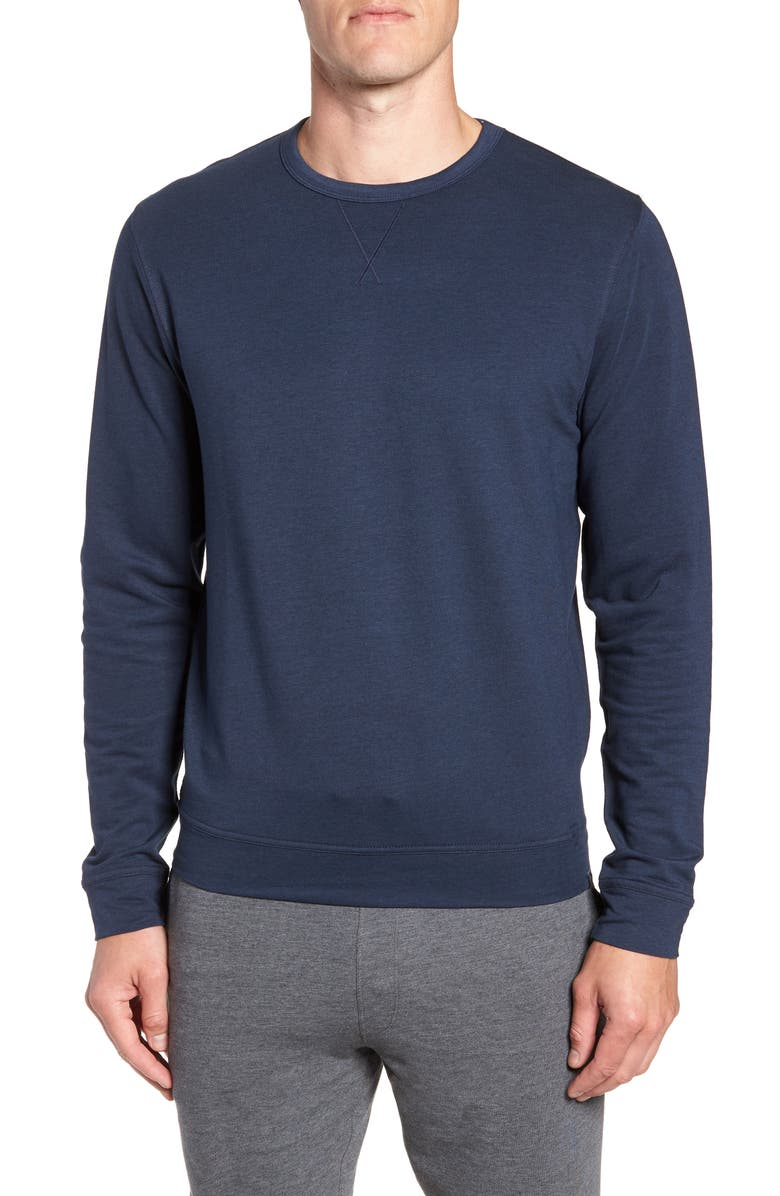 TASC PERFORMANCE Legacy Crewneck Semi Fitted Sweatshirt, Main, color, CLASSIC NAVY